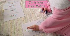 A Christmas Tree Inspired Maths Counting Activity, ideal for preschoolers. Counting Activities, Simple Math, Maths, Preschool, Playing Cards, Christmas Tree, Education, Inspired, Inspiration
