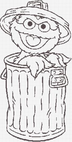 Luvs 2 Knit: Sesame Street Oscar The Grouch Charts:) Christmas Too! Cute Coloring Pages, Cartoon Coloring Pages, Coloring Books, Sesame Street Party, Sesame Street Birthday, Sesame Street Coloring Pages, Free Adult Coloring, Bible Story Crafts, Sesame Street Characters