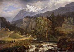 The Athenaeum - Alpine Landscape (Johan Christian (J.C.C.) Dahl - )
