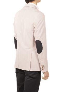 El Ganso (Barcelona) - French Seersucker Jacket w/ Elbow Patches