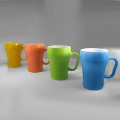 Fire-King mugs/cup often called referred as Coke cups due to their somewhat Coke bottle shape.