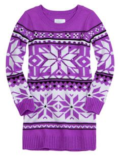 Justice for Girls Fair Isle Sweater Tunic