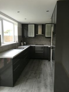 Ikea grey gloss Ringhult kitchen