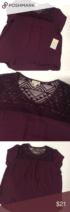 NWT Lily White Dressy Top NWT Maroon Dressy Top. Excellent condition. Lily White Tops