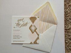Ellingford-Wardle Letterpress with matching envelope liner.