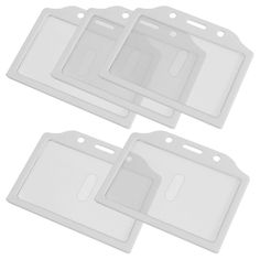 VSEN Hot Style5x White Clear Plastic Credit Card Holder Case for Students