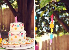 Cute cake idea for Brie's 1st birthday!