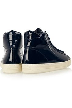 Tom Ford | Patent-leather high-top sneakers | NET-A-PORTER.COM