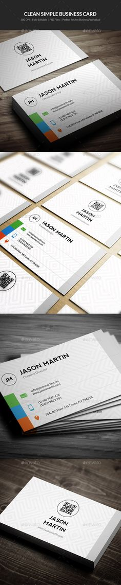 Clean Simple Business Card Template #design Download: http://graphicriver.net/item/clean-simple-business-card-03/12413366?ref=ksioks