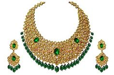 Indian Jewelry 19 century antique Mughal Necklace