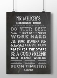 Personalised Teachers Class Gift Print. Size A3 Poster £22.45