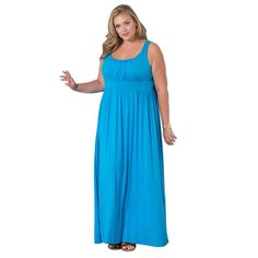 4c207b0ef7 Sealed With a Kiss Amelia Women s Sky Blue Plus-size Maxi Dress - Overstock™