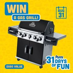 *THIS SWEEPSTAKES HAS ENDED* Who wants a gas grill? REPIN! #Purex31DaysOfFun