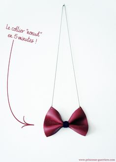 a little #DIY for a 5 minutes #bow #necklace !