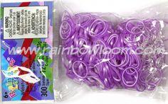 Purple & White (Pearl) | Rainbow loom
