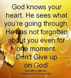 Don't give up on God!