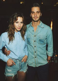 Denim Couple hot couple in love jeans shirt pants fashion women man tumblr together style stylish couple