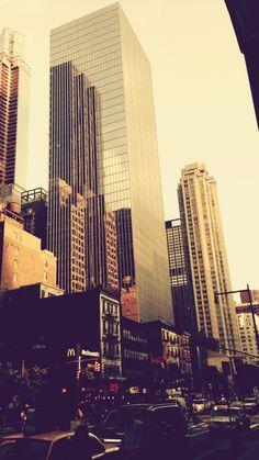 NYC. Golden light