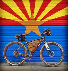 @bicycle_nomad setting up for a great weekend! #surlybikes #bicyclenomad #bicyclenomadcafe #ECR #arizona #bikesthathaul #bikepacking