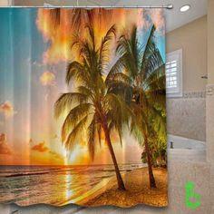 beauty sunset Shower Curtain