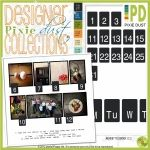 D2D Pixie Dust: Monday to Sunday 123 Collection By Justine On October 18, 2012 Here is a fun collection of weekdays and dates for your Day2Day projects.