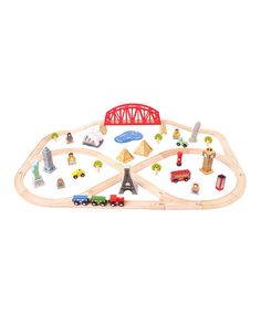 Another great find on #zulily! Bigjigs Toys 73-Piece Around the World Train Set by Bigjigs Toys #zulilyfinds