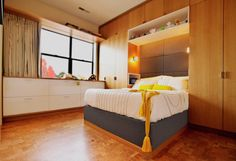 Modern Bedroom with Built in cabinets by Grada Inc.