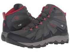 Columbia Peakfreak XCRSN II Xcel Mid Outdry (City Grey/Bright Red) Men's Shoes