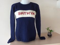 Hand knit human value pure Merino wool long sleeve by RainbowKnit, $120.00