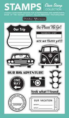 Road Map Clear Stamps