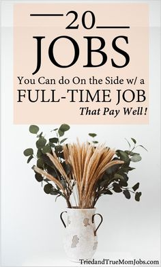 If you're working a and it's still not helping you pay your bills and down your debt it's time to look for extra income. Check out 20 different ways you can make money on the side with a full-time job from people who are doing it today Ways To Earn Money, Earn Money From Home, Earn Money Online, Money Saving Tips, Way To Make Money, Online Jobs, Money Hacks, Make Time, Work From Home Careers