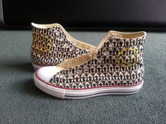 Sherlock Converse All Star High Tops by WhiskyFoxtrot on Etsy