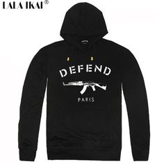 Defend Paris Men Sports Suit Hooded Hip Hop Swag Black Sweatshirts Men Autumn 2015 Harajuku Trendy New Street Style SMR0261-5