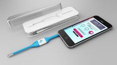 A thermometer that works through your smartphone and provides treatment advice.