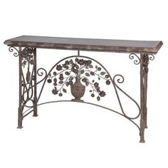 Metal Anno Domini Console Table / Hall Table