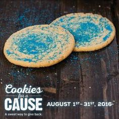 During the month of August, McAlister's will turn their fan-favorite famous sugar cookies blue, in support of the organization's signature color. $0.75 from each cookie sold will support Autism Speaks.