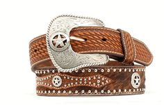 Buy Nocona Belt 44 Inch Western Leather Hair Star Concho Mens Belt, Brown at UnbeatableSale Western Belt Buckles, Western Belts, Western Style, Western Wear, Leather Belts, Leather Men, Men's Belts, Leather Tooling, Fashion Belts