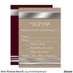 silver platinum shine elegant event invitation ideas for events