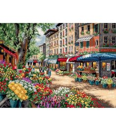 Dimensions Gold Collection Paris Market Counted Cross Stitch Kit, , hi-res
