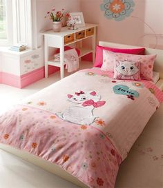 Next Girls Disney Aristocats Cutesy Marie Reversible Printed Single Bedset BNIP