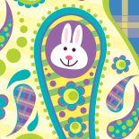 Easter Bunny Paisley by Marsha Gray Carrington