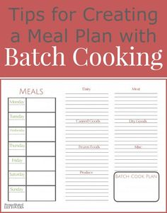 Are you looking for a way to simplify dinners on busy weeknights? Combine meal planning and prep-ahead with batch cooking to create quick and easy dinners on busy nights.