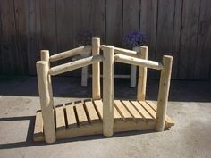 Garden Bridges - Pin it :-) Follow us :-)) zGardensupply.com is your Garden Supply Gallery ;) CLICK IMAGE TWICE for Pricing and Info SEE A LARGER SELECTION of garden bridges at  http://zgardensupply.com/category/garden-supply-categories/garden-structures/garden-bridges/ - garden, gardening, gardening gear, gift ideas, housewarmig gift ideas- White Cedar Log Bridge – 4 foot « zGardenSupply