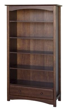 Features:  -5 Adjustable shelves included.  -Contemporary style.  Product Type: -Standard.  Style: -Contemporary.  Frame Material: -Wood.  Shelving Included: -Yes.  Drawers Included: -Yes.  Orientatio