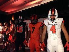 Oregon State Beavers new football uniforms.
