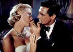 Cary Grant and Grace Kelly in