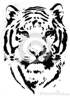 Tiger Stencil Vector by Krookedeye, via Dreamstime
