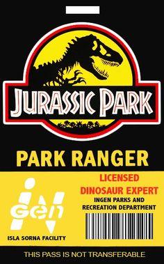 Jurassic Park Ranger Template Jurassic Park Costume, Jurassic Park Jeep, Jurassic Park Party, Jurassic Park World, Jurassic Craft, Jurassic Park Poster, Birthday Party At Park, Dinosaur Birthday Party, 7th Birthday