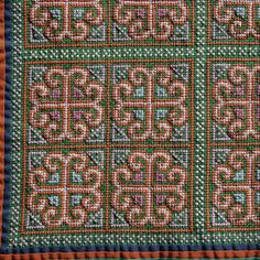 Vintage Hmong Embroidery Hilltribe Cross Stitch Textile by rayela, $24.00