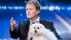 Marc Métral and his talking dog Miss Wendy wow the Judges